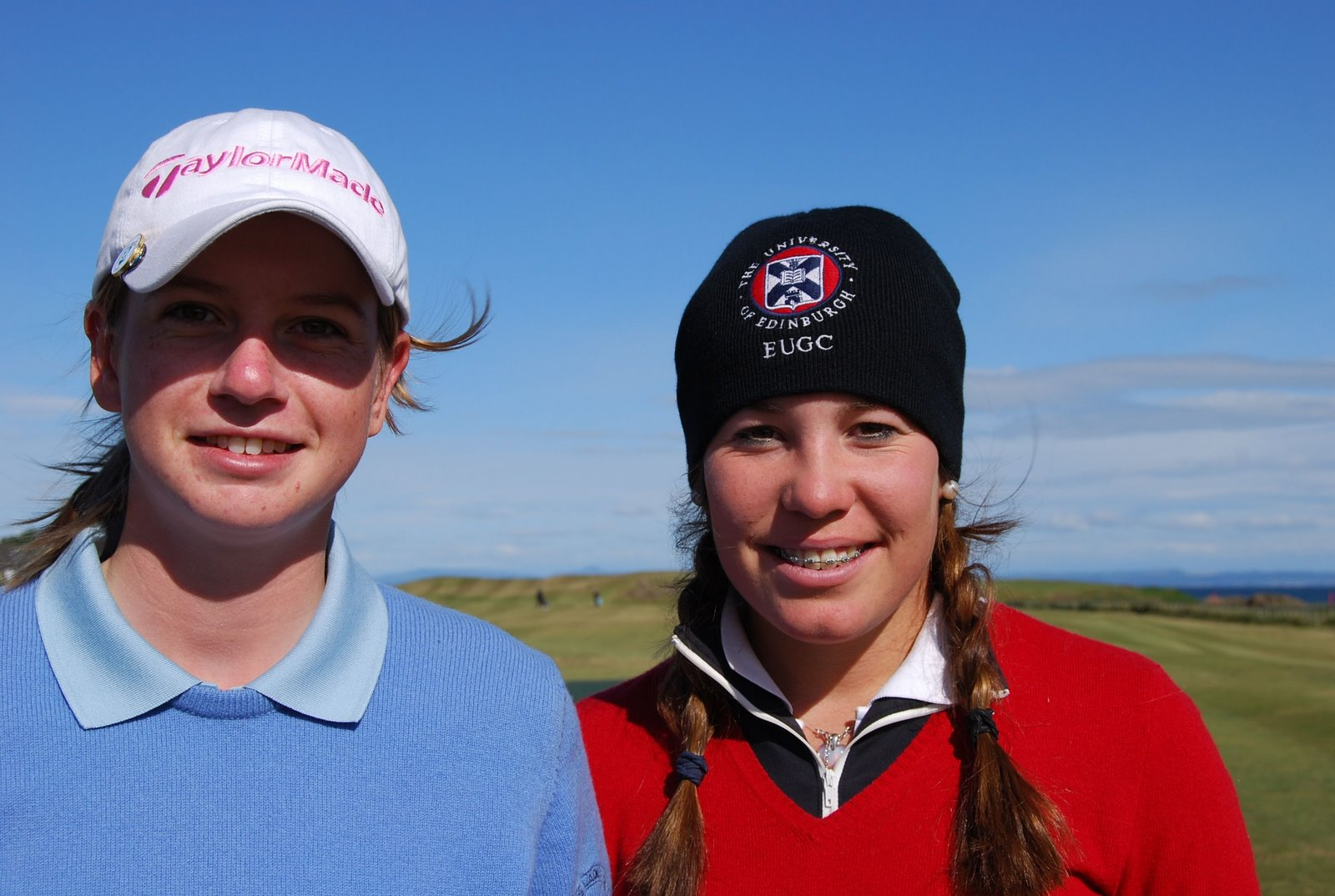 Pamela Pretswell (left) and Roseanne Niven on the first tee at North  Berwick this morning before their third-round tie in the British women's  open amateur ...